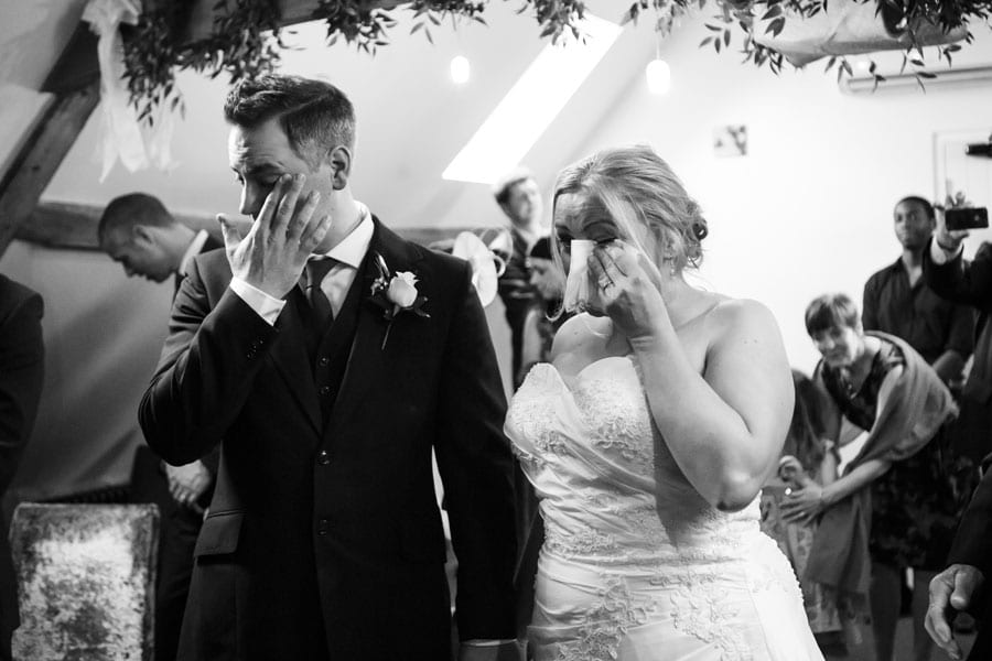 Double tears from Trudy and Jame's wedding