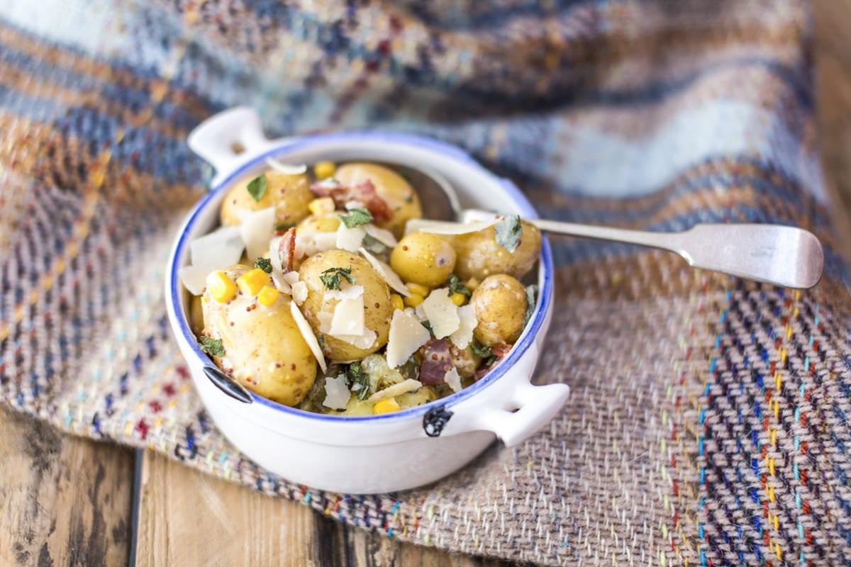 Minted potatoes