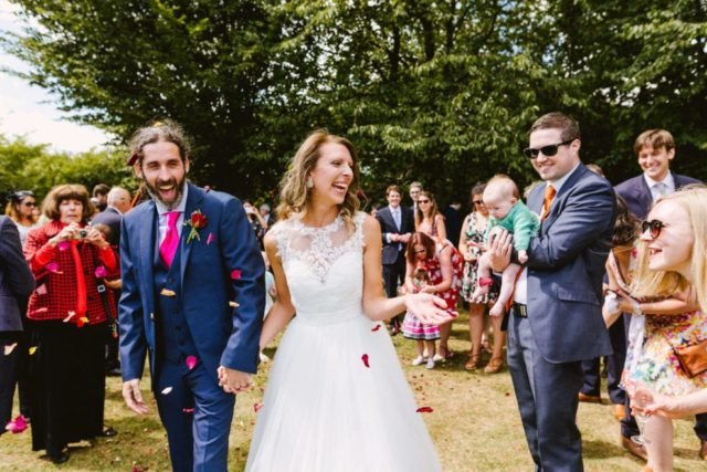 Colourful outdoor wedding in buckinghamshire