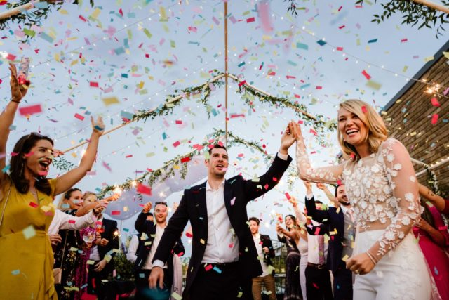 Confetti cannons for London Wedding