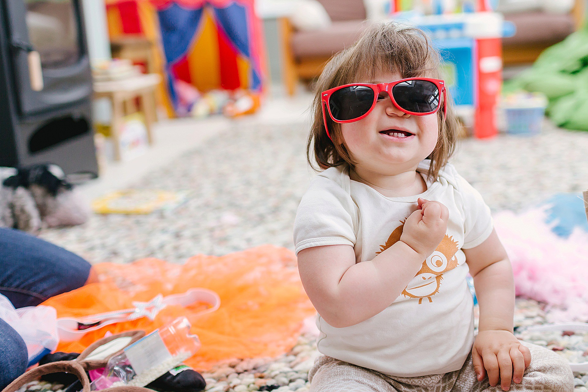 Cute baby with glasses - Bucks Family Photographer