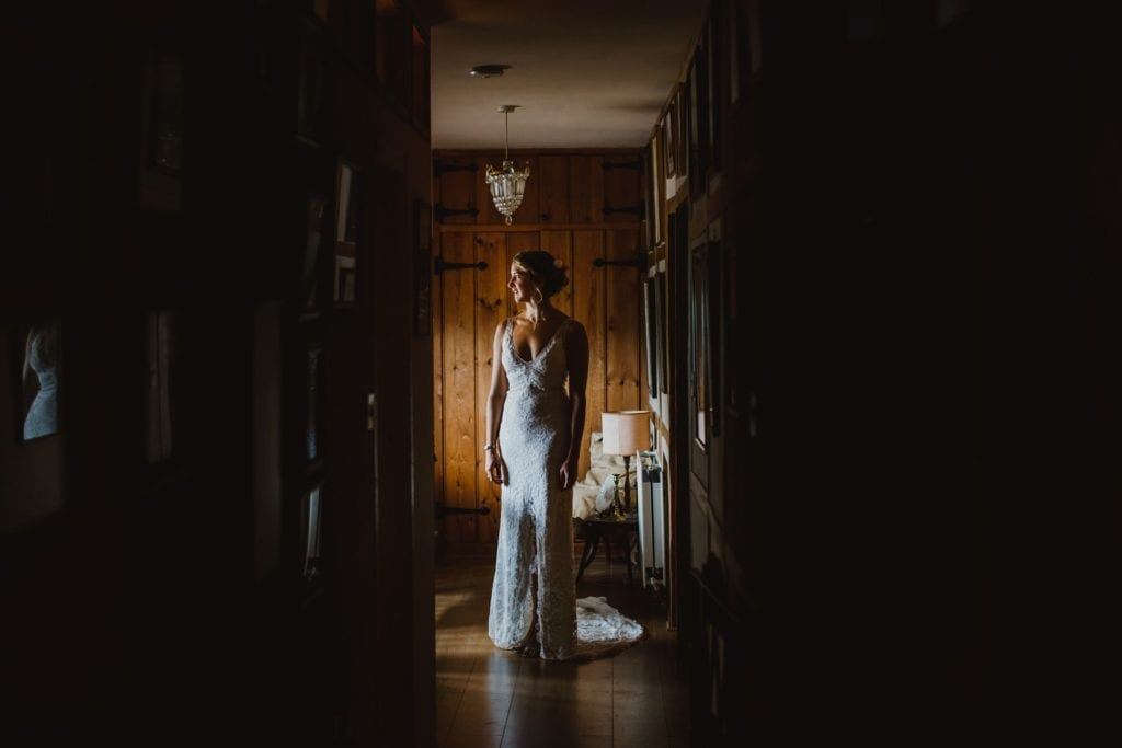 Beautiful bride in window light - Berkshire Wedding Photography