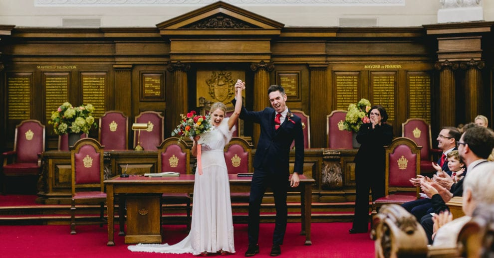 London Wedding Photograhy - Islington Town Hall and St Barts-95