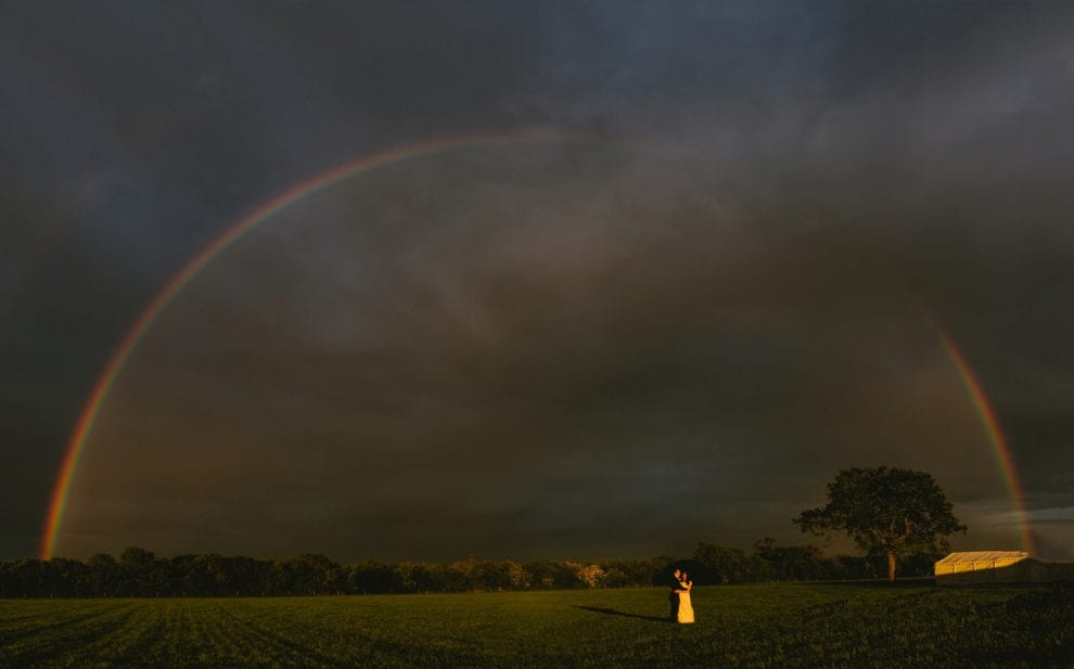Rainbow over Charlotte and Paul's wedding day!