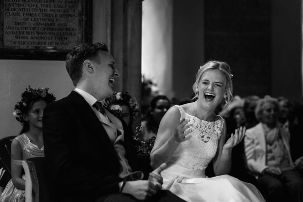 BEST wedding Photography 2017 - charlotte laughing at Gate Street Barn