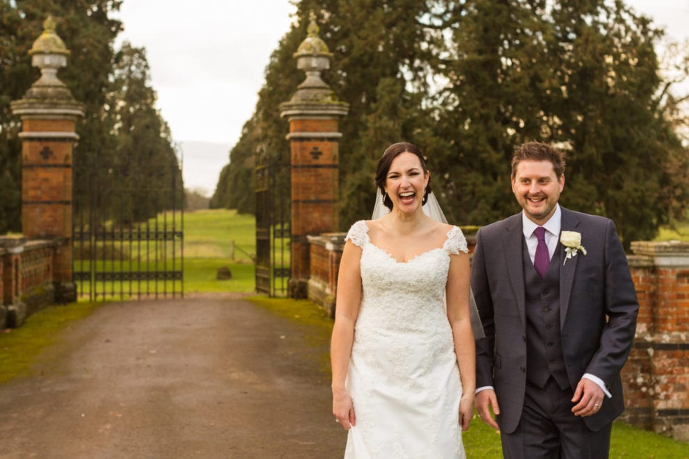 Alix and Dan by the gates at the Elvetham 4