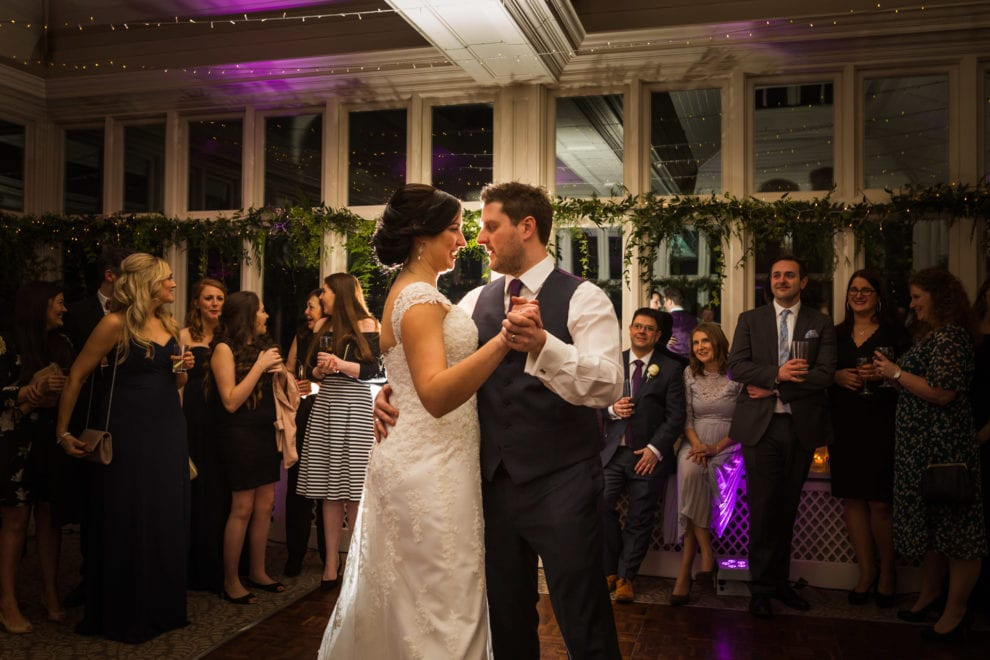 Alix and Dan's first dance at the Elvetham
