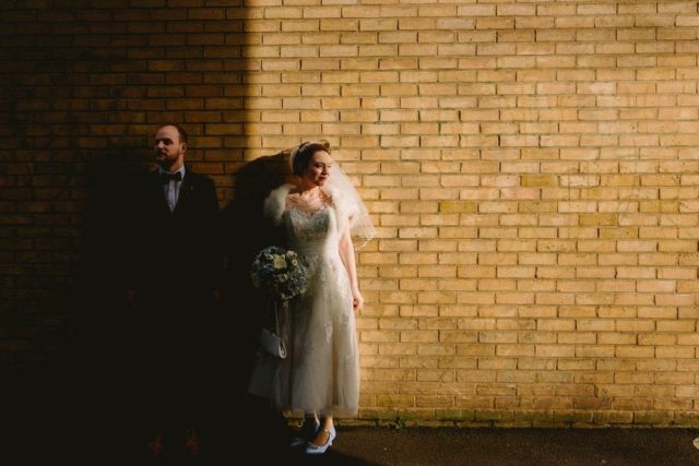 on the streets of Hackney Wedding Photography