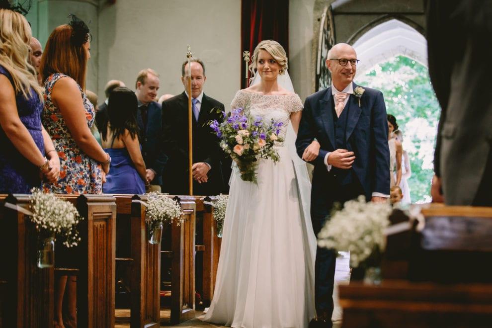Eggington House - Bedfordshire Wedding Photographer-walking down the aisle