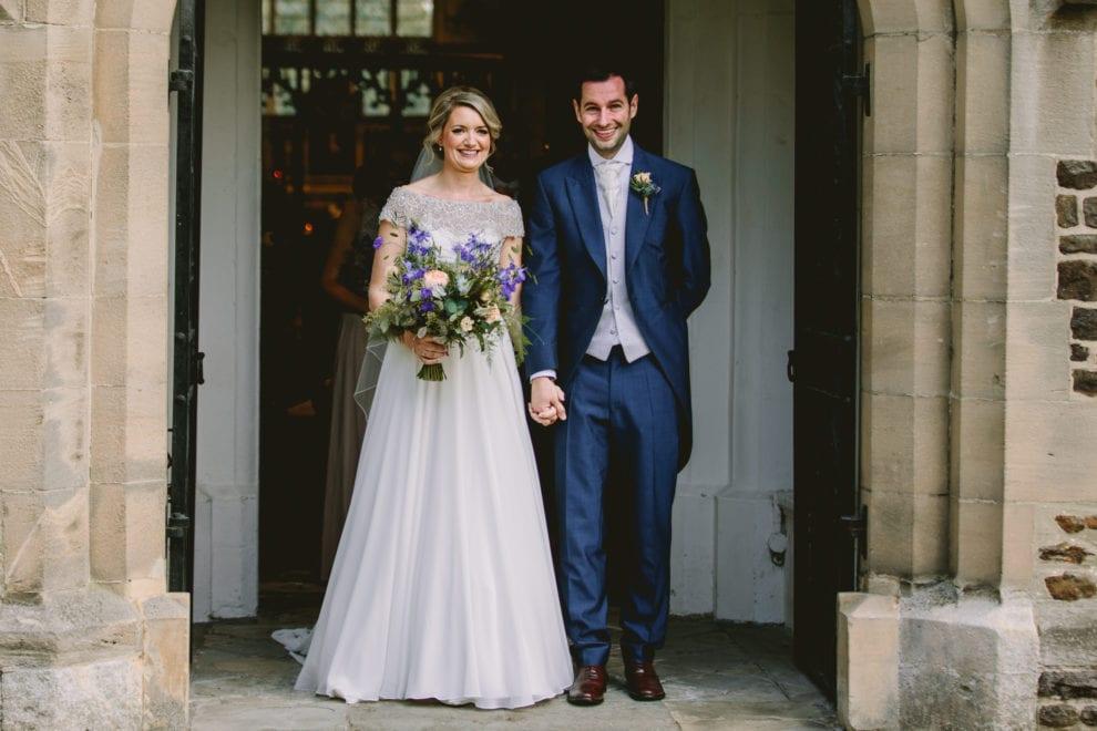 Eggington House - Bedfordshire Wedding Photographer-50 - leaving the church
