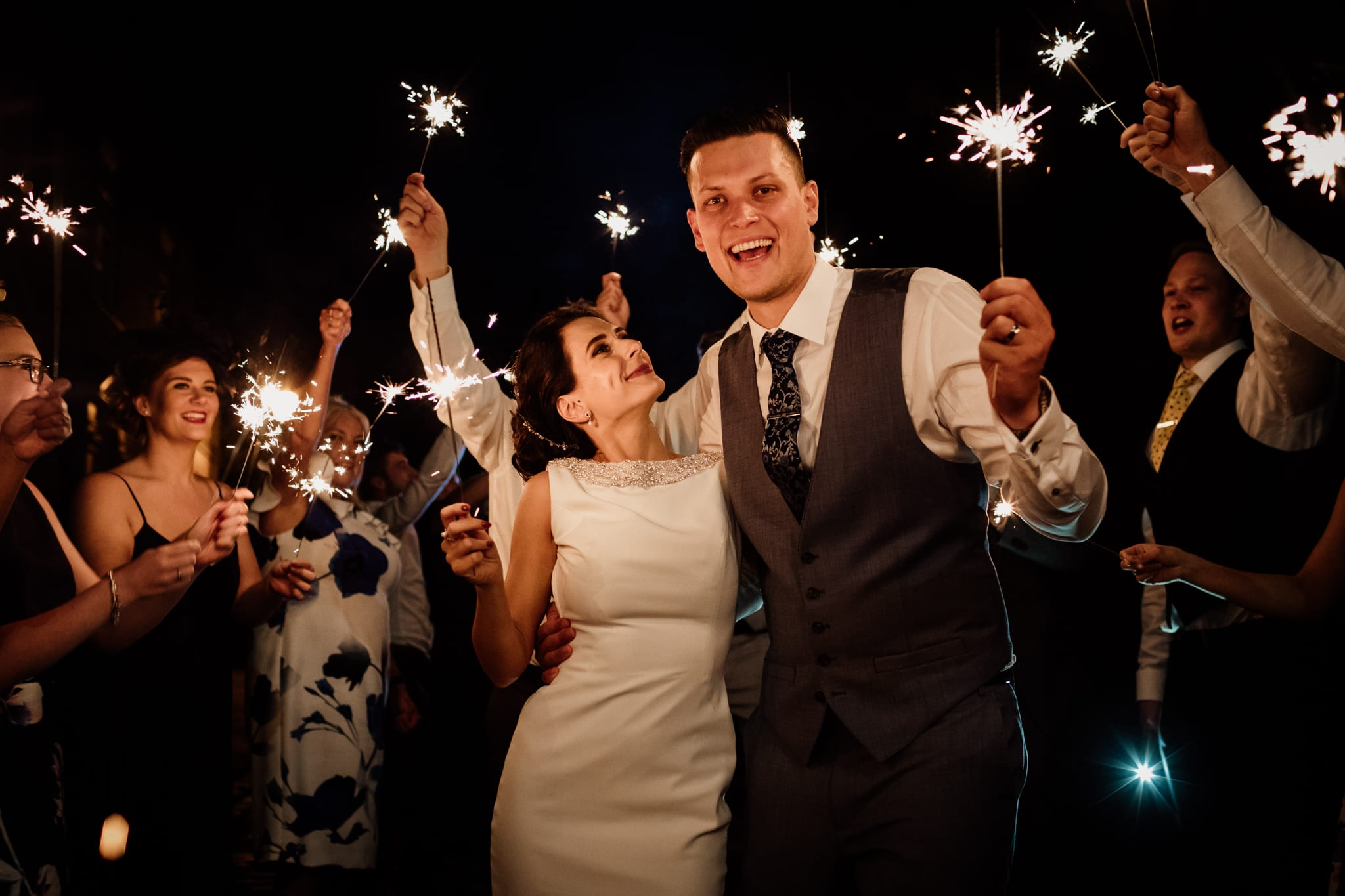 Sparklers at a wedding - yes please!