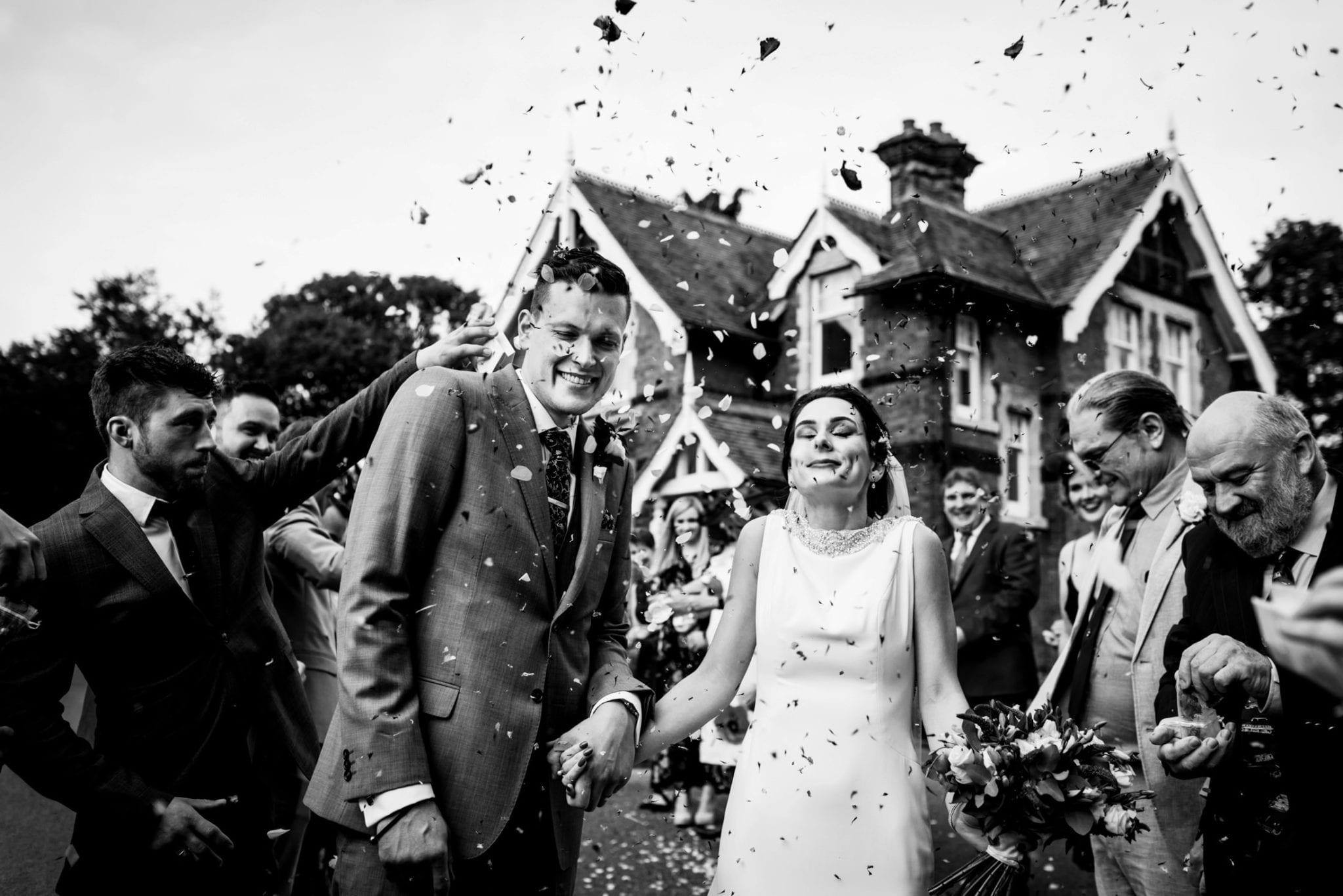 Confetti moments - St Albans Wedding Photographer