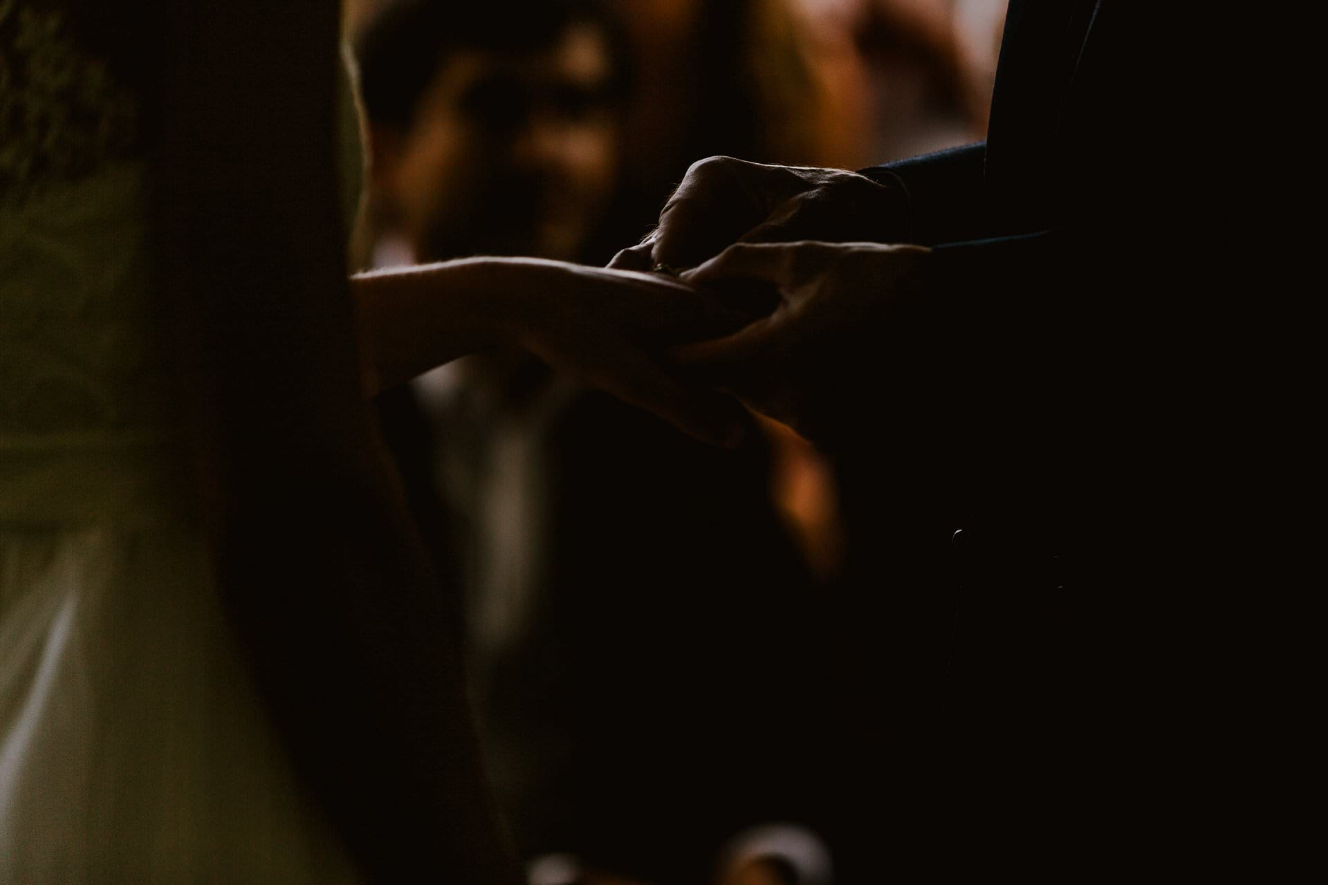 Hand Fasting at an outdoor wedding