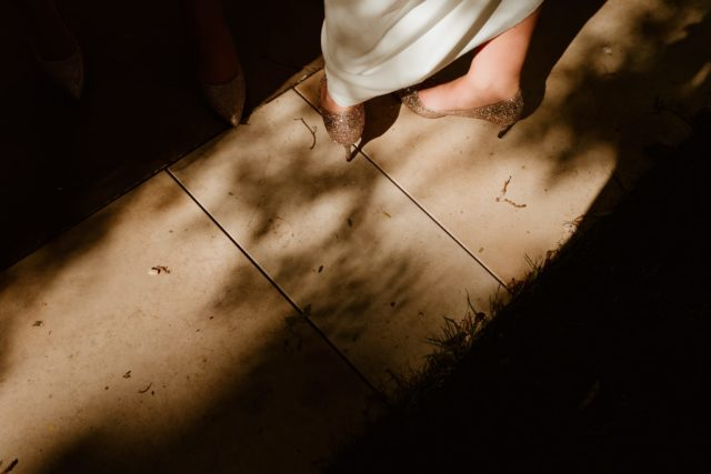 Jimmy Choos in the light. London Wedding