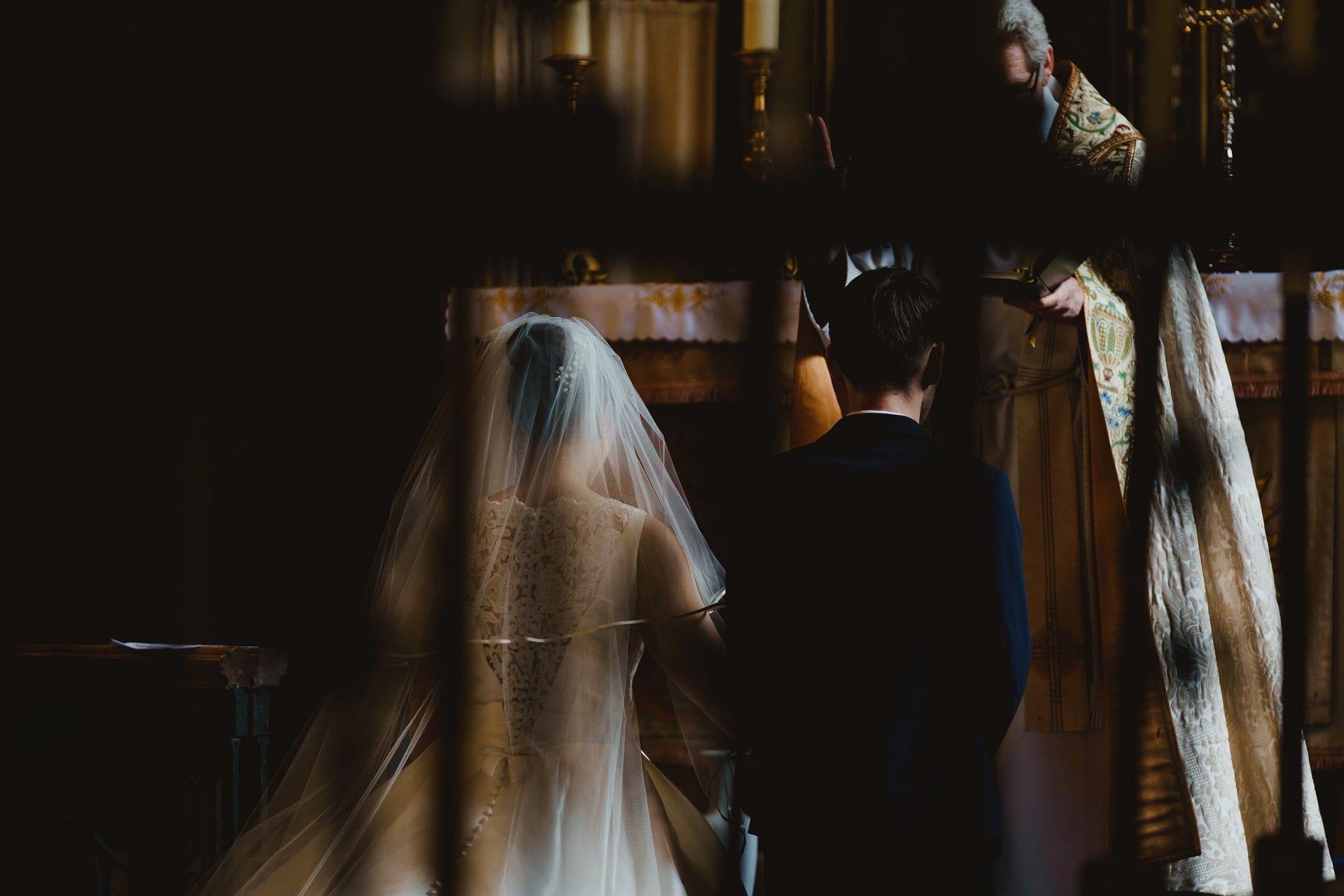 Couple take their wedding vows
