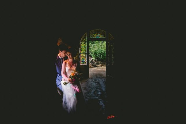 Couple at Swiss Garden Wedding