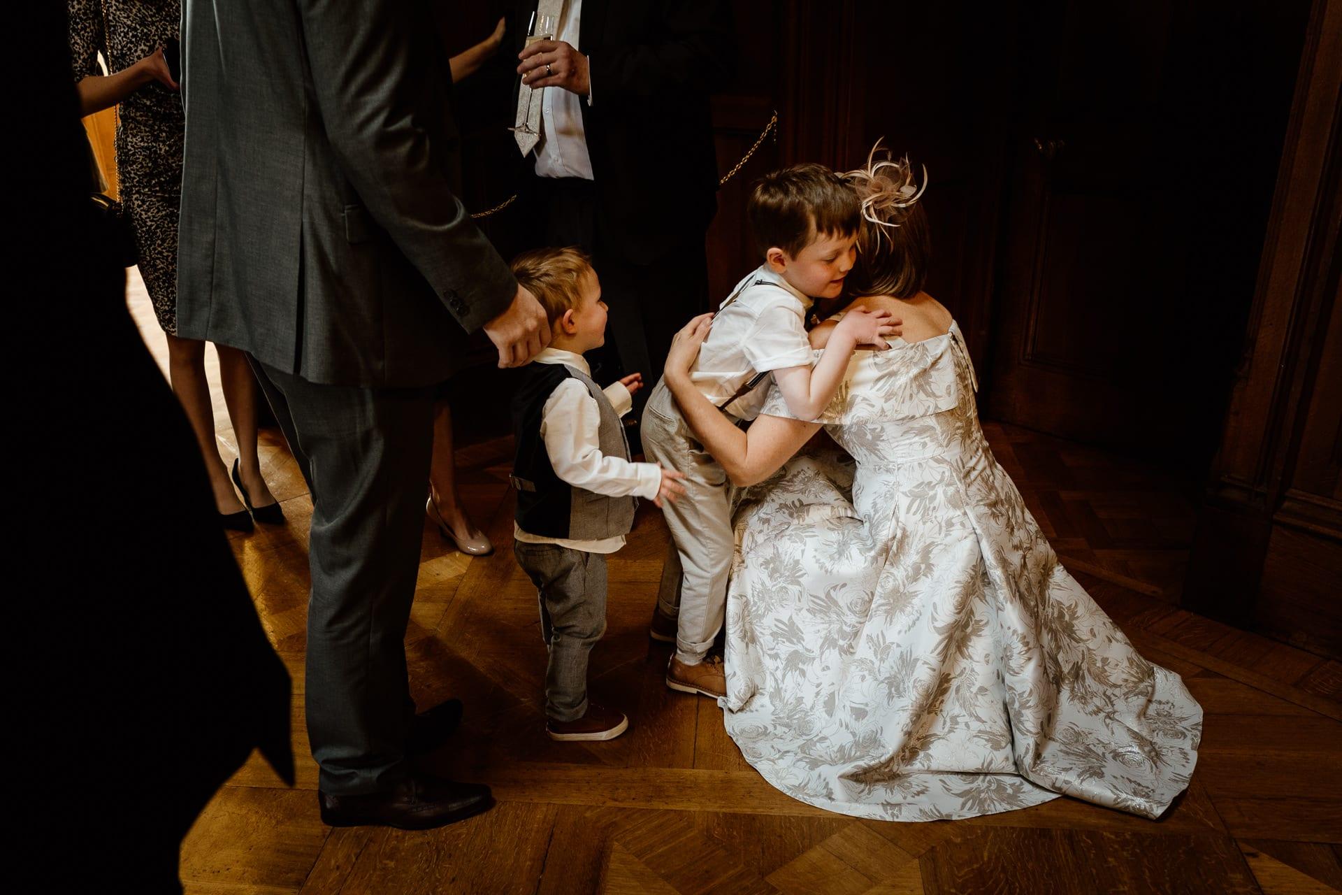 Congratulated by the grandchildren - Shuttleworth House Wedding