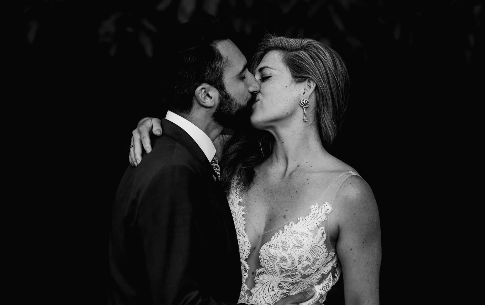 The Kiss. Suffolk Wedding