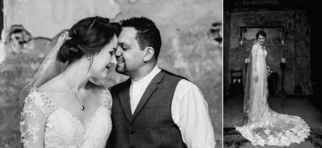 Couple portraits at The Asylum in London - wedding photography