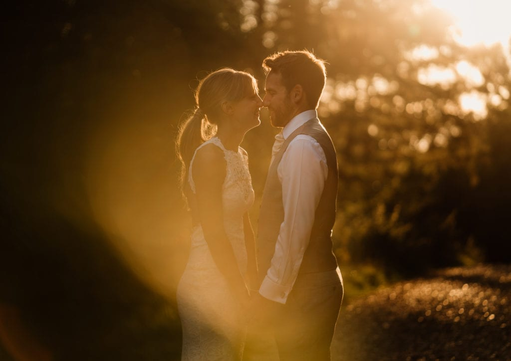 Incredible light for Kim and Joe's wedding