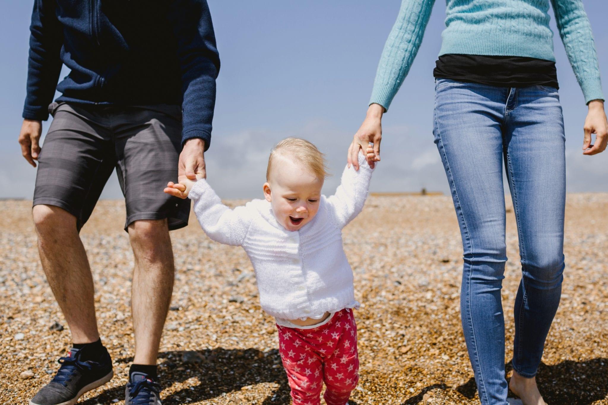 Family Photography - walk on a beach