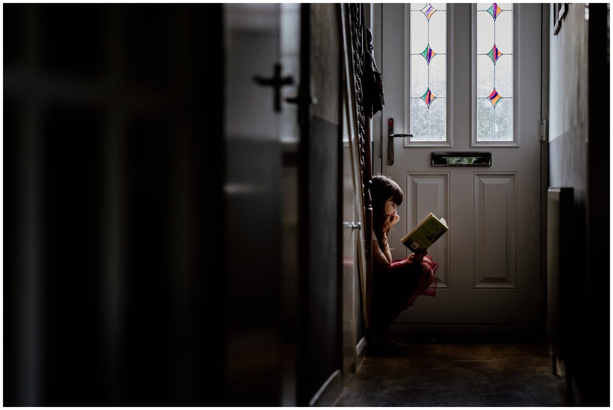 Greta reading a book