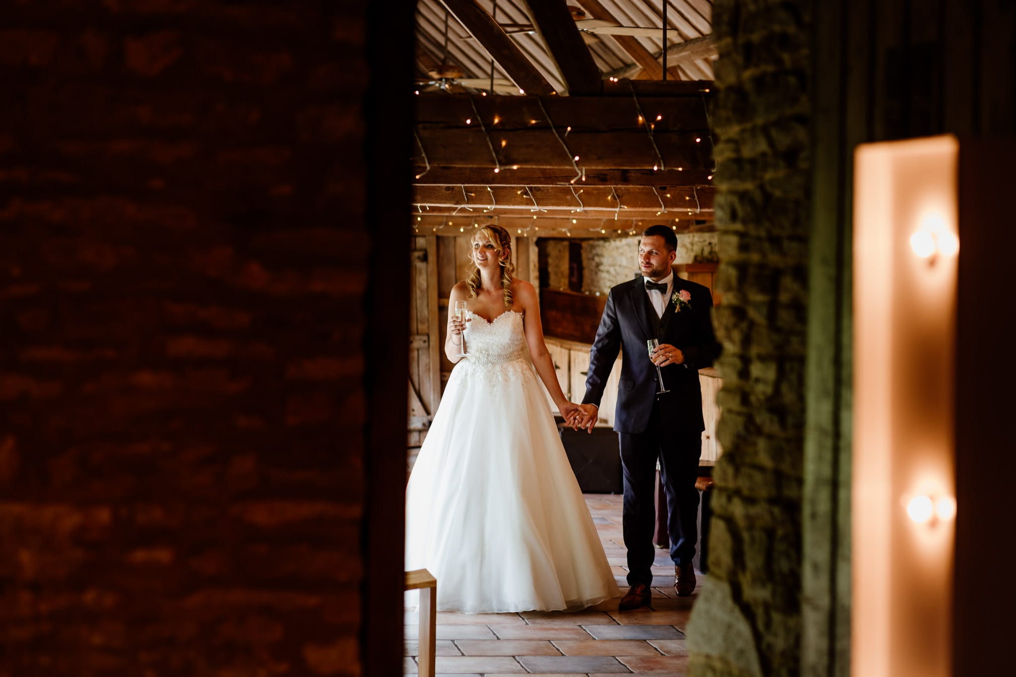 Just married at The Tythe Barn Launton, Oxfordshire Wedding Photography