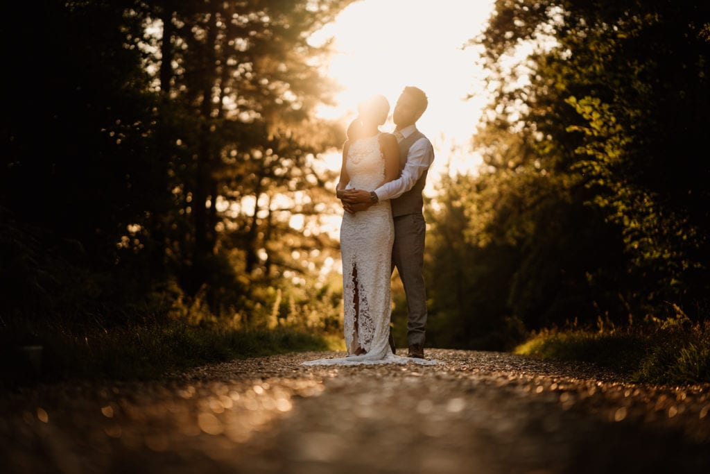 Incredible light for Kim and Joe's wedding