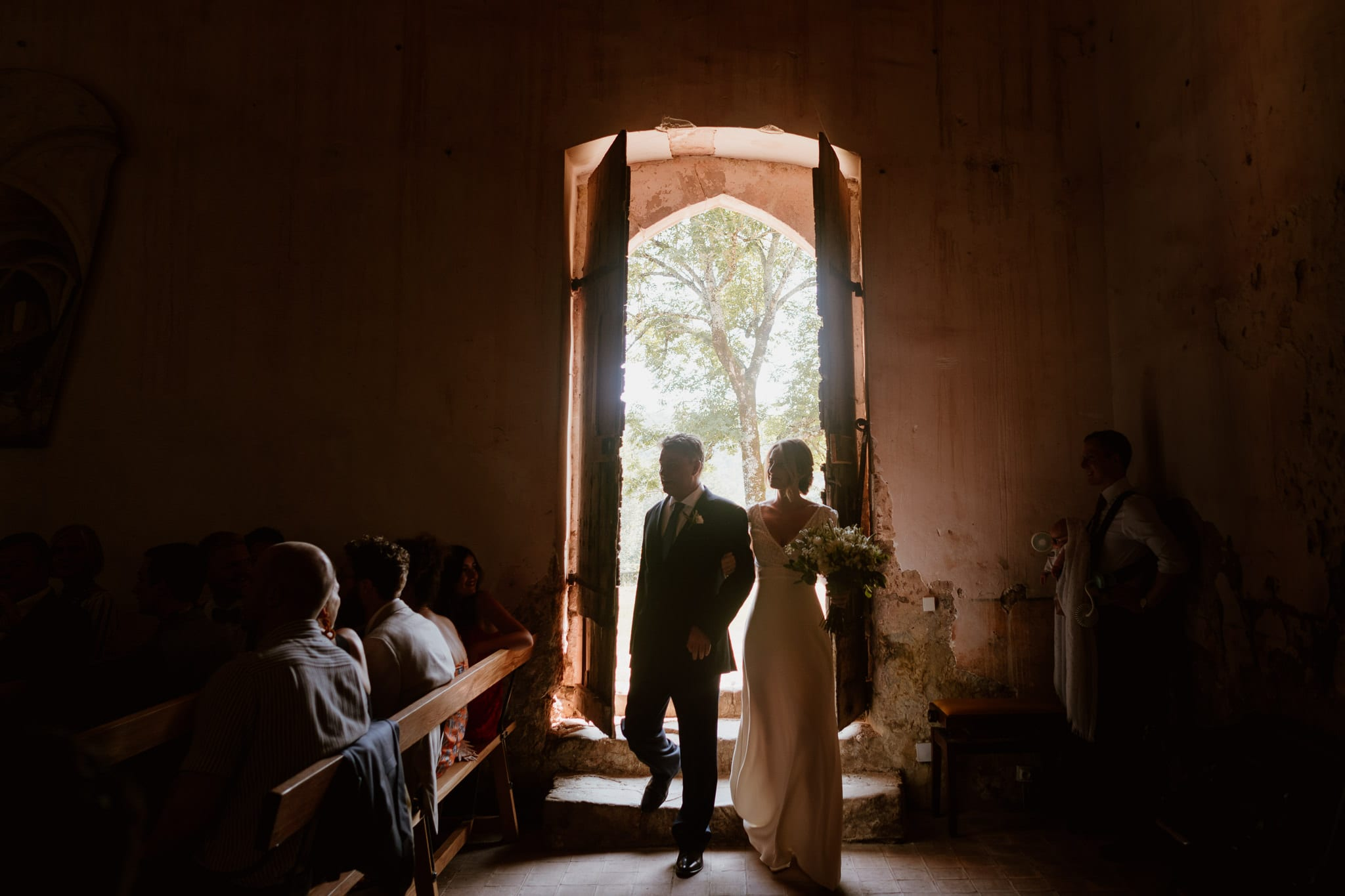 Just about to be married at Chateau de Queille in the South of France - Wedding Photographer