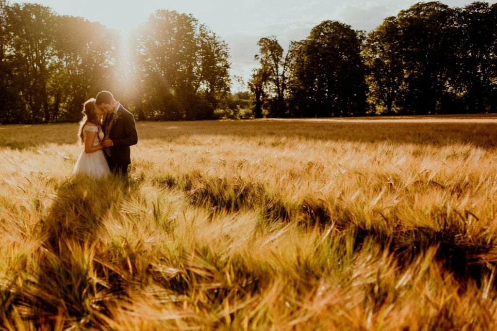 Golden hour photos at a lockdown wedding in Hertfordshire